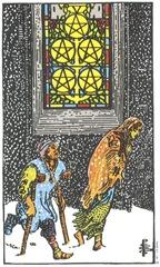 5 of Pentacles--Rider-Waite Tarot