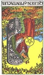 Queen of Pentacles--Rider-Waite Tarot