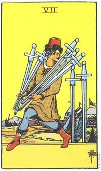 Seven of Swords--Rider-Waite
