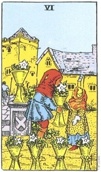 Six of Cups--Rider-Waite