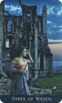Three of Wands, Bohemian Gothic Tarot