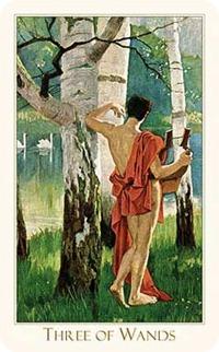 Three of Wands, Victorian Romantic Tarot