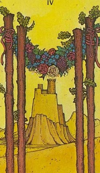 Four of Wands, Morgan Greer Tarot