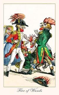 Five of Wands, Fantastic Menagerie Tarot