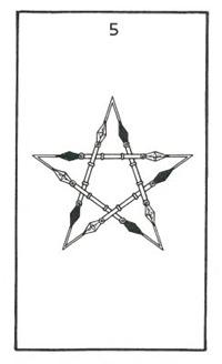 Five of Wands, Builders of the Adytum Tarot