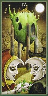 Four of Wands, Deviant Moon Tarot