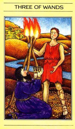 Three of Wands, Mythic Tarot
