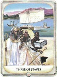 Three of Wands, Ancestral Path Tarot