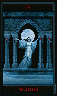 Four of Wands, Gothic Tarot