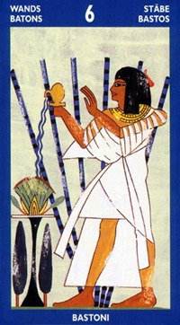 Six of Wands, Tarot of the Sphinx