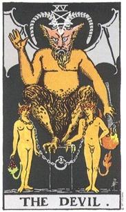 The Devil, Rider-Waite Tarot