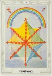 Eight of Wands, Thoth Tarot
